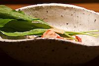 Lobster salad kaiseki at the Kaichoro Ryokan, Ikako Onsen, Japan.