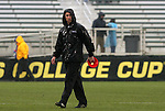 13 December 2009: Akron head coach Caleb Porter. The University of Virginia Cavaliers defeated the University of Akron Zips 3-2 on penalty kicks after playing to a 0-0 overtime tie at WakeMed Soccer Stadium in Cary, North Carolina in the NCAA Division I Men's College Cup Championship game.