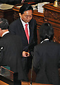 June 26, 2012, Tokyo, Japan : Japan's former Prime Minister Yukio Hatoyama casts his vote a plenary session of the Diet lower house in Tokyo, Japan on  June 26, 2012.