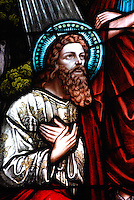 The conversion of St. Paul of Tarsus pictured in stained glass window. (Sam Lucero photo)