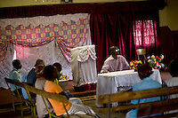 Thbang, a worker for the Zimbabwe Christian Alliance (ZCA), which is supported by Tearfund. He leads a session for victims of the election violence in 2008 where they share their stories and express their opinions about proposals for truth and reconciliation.