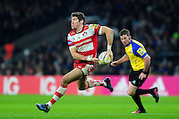 James Hook of Gloucester Rugby looks to pass the ball. Aviva Premiership match, between Harlequins and Gloucester Rugby on December 27, 2016 at Twickenham Stadium in London, England. Photo by: Patrick Khachfe / JMP