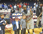 "Seniors Ole Miss guard Chris Warren (12)  with fans on Senior Day at C.M. ""Tad"" Smith in Oxford, Miss. on Saturday, March 5, 2010. Ole Miss won 84-74."