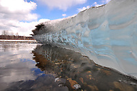 Shelf ice on the Talkeetna River