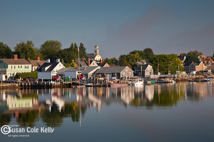 The waterfront of Portsmouth, Seacoast Region, NH, USA