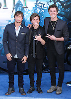 HOLLYWOOD, LOS ANGELES, CA, USA - MAY 28: Emblem3 at the World Premiere Of Disney's 'Maleficent' held at the El Capitan Theatre on May 28, 2014 in Hollywood, Los Angeles, California, United States. (Photo by Xavier Collin/Celebrity Monitor)