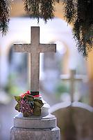 Cross Particular Cimitero Verano, Rome, Italy.02 April 2010