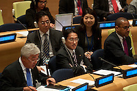 New York City, NY, 26 September 2014  Kishida Fumio foreign minister of japan Commemoration of the first  international day for the total elimination of Nuclear Weapons.  Photo by Joana Toro VIEWpress.
