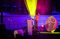 Cibelle bei Move On Up  im Hallenbad Wolfsburg am 24.May 2014. Foto: Rüdiger Knuth