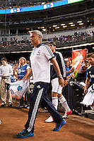 Real Madrid  manager Jose Mourinho. Real Madrid defeated A. C. Milan 5-1 during a 2012 Herbalife World Football Challenge match at Yankee Stadium in New York, NY, on August 8, 2012.