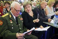 Moscow, Russia, 02/11/2011..Judges at the first Moscow Super-Babushka contest. A total of 105 women aged over 50 entered to compete for various titles, including most stylish, modern, elegant, business-minded, creative, artistic, and cheerful granny. The overall winning title of Super-Babushka was taken by 73 year old Ludmilla Trafinovna in the event organised by the Moscow City Government Social Welfare Department.