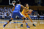 08 November 2015: Saint Leo's Chelsey Springs (22) and Duke's Azura Stevens (11). The Duke University Blue Devils hosted the Saint Leo University Lions at Cameron Indoor Stadium in Durham, North Carolina in a 2015-16 NCAA Women's Basketball Exhibition game. Duke won the game 116-33.