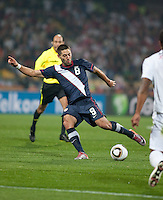 Clint Dempsey scores a goal in the first half of the 2010 World Cup match between USA and England in Rustenberg, South Africa on Saturday, June 12, 2010.
