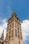 la giralda and cathedral in sevilla, spain