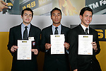 Boys Volleyball finalists Nathan Healey, Sam Tu'ivai & Jacob Lee. ASB College Sport Young Sportperson of the Year Awards 2007 held at Eden Park on November 15th, 2007.