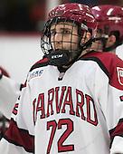 Phil Zielonka (Harvard - 72) - The Harvard University Crimson honored their seniors following their final home game of the regular season on Saturday, February 22, 2014 at the Bright-Landry Hockey Center in Cambridge, Massachusetts.