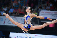 September 8, 2015 - Stuttgart, Germany -  NITA RIVKIN of Israel performs during AA qualifications at 2015 World Championships.