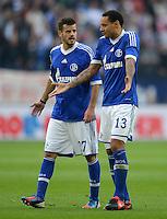 FUSSBALL   1. BUNDESLIGA  SAISON 2012/2013   4. Spieltag FC Schalke 04 - FC Bayern Muenchen      22.09.2012 Tranquillo Barnetta und Jermaine Jones (v.li., FC Schalke 04)