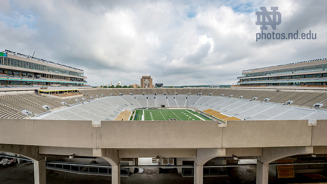August 31, 2016; Notre Dame Stadium during Campus Crossroads Construction (Photo by Matt Cashore/University of Notre Dame)