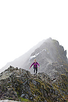 Sarah Ridgeway on her training run in the Snowdonia National Park, North Wales
