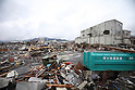 March 16, 2011, Ofunato, Iwate Prefecture, Japan - Tsunami debris lies where buildings once stood in the town of Ofunato in the aftermath of the 2011 Tohoku Earthquake and Tsunami.  (Photo by Yousuke Miyamori/AFLO)