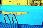 An empty public swimming pool in the Bronx, New York City