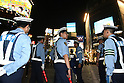 June 19, 2010 - Tokyo, Japan - Police officers secure the Shibuya district area for the 2010 World Cup football match Netherlands vs Japan on June 19, in Tokyo, Japan. The Netherlands defeated Japan 1-0.