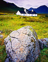 Cottage in the Highlands, near Glencoe, Scotland, United Kingdom