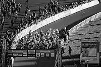 U23 men's race start straight up the infamous (F1) Raidillon<br /> <br /> 2016 CX Superprestige Spa-Francorchamps (BEL)