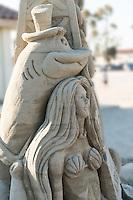 Beach, Sand, Sandcastles, Sculpture Sandsculpture,  Long Beach, CA,