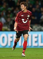 FUSSBALL   1. BUNDESLIGA   SAISON 2013/2014   11. SPIELTAG SV Werder Bremen - Hannover 96                         03.11.2013 Hiroki Sakai (Hannover) bejubelt seinen Treffer zum 2:2