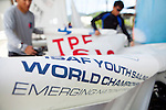 ISAF Emerging Nations Program, Langkawi, Malaysia.<br />Chi-Chian Wu from Taiwan, TPEWC1   <br />&amp; Chih-Yuan Chu  from Taiwan, TPECC2.<br />420, Sail Number: TPE 86168