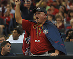 Ole Miss fans cheer at the Louisiana Superdome in New Orleans, La. on Saturday, September 11, 2010. Ole Miss won 27-13.
