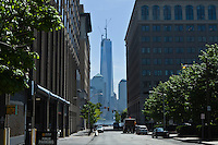 The one World Trade Center which has reached 1,776 feet, what makes it, the tallest building in the Western Hemisphere in New York,  May 10, 2013. by Kena Betancur / VIEWpress
