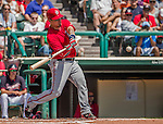 21 March 2015: Washington catcher Jose Lobaton in action during a Spring Training Split Squad game against the Atlanta Braves at Champion Stadium at the ESPN Wide World of Sports Complex in Kissimmee, Florida. The Braves defeated the Nationals 5-2 in Grapefruit League play. Mandatory Credit: Ed Wolfstein Photo *** RAW (NEF) Image File Available ***