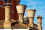 Traditional Venecian Chimneys -  Riva Vena canal - Chioggia - Venice - Italy
