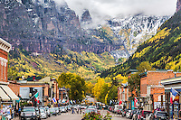 Autumn in Telluride Colorado.  This place lights up like a Christmas tree at the peak of fall colors.  Telluride is an old mining town turned into now ski town.