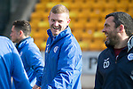 St Johnstone Training&hellip;.17.02.17<br />Brain Easton jokes with Callum Davidson during training this morning at McDiarmid Park ahead of tomorrow&rsquo;s trip to Dingwall<br />Picture by Graeme Hart.<br />Copyright Perthshire Picture Agency<br />Tel: 01738 623350  Mobile: 07990 594431