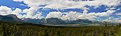 Panoramic view over Waterton Lakes National Park, Alberta, Canada