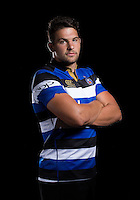 Charlie Ewels poses for a portrait at a Bath Rugby photocall. Bath Rugby Media Day on August 24, 2016 at Farleigh House in Bath, England. Photo by: Rogan Thomson / JMP / Onside Images
