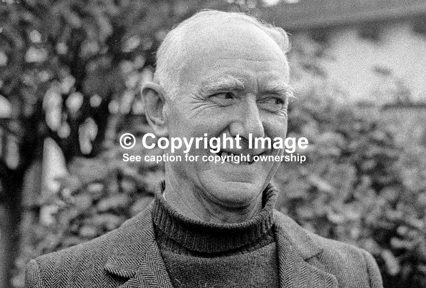 John de Courcy Ireland, Irish maritime historian, author, broadcaster, academic, political activist, teacher, 197302000130.<br />
