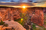 Sunrise over Canyon de Chelly, Canyon de Chelly National Monument, Arizona USA