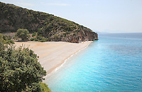 Gjipe beach near Dhermi, in Vlore in the Albanian Riviera on the Ionian Coast, Southern Albania. Picture by Manuel Cohen