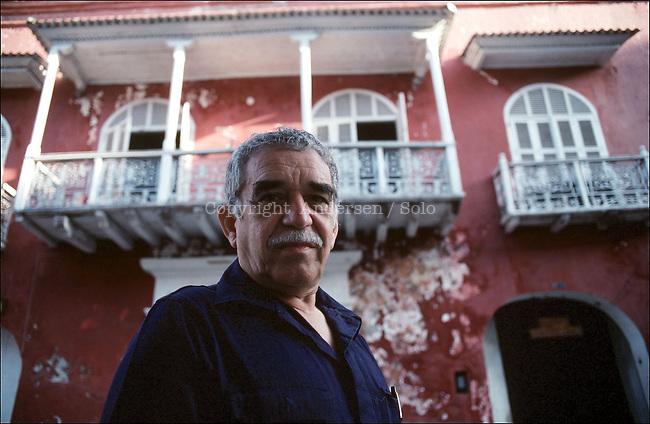 Nobel prize winner Garcia Marquez in Carthagena, Colombia.