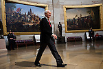 Senator Orrin Hatch of Utah walks through the US Capitol Rotunda on his way to the inaugural luncheon, January 21, 2013 in Washington, DC.
