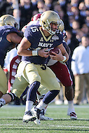 Annapolis, MD - December 3, 2016: Navy Midshipmen quarterback Will Worth (15) runs the ball during game between Temple and Navy at  Navy-Marine Corps Memorial Stadium in Annapolis, MD.   (Photo by Elliott Brown/Media Images International)