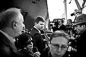 Gdynia 25 April 2009 Poland.<br /> The Gdynia Shipyard.<br /> The Polish shipyard industry is in a deep crisis. The Gdansk and Szczecin shipyards are under the threat of liquidation. The battle between the Polish government, creditors and European Union rages on. Spyard workers live under immense pressure of dissmissals. They are completely unsure of their future; they leave, search for work in England, Irland, Norway. During last two months over 25 % of workers left the Szczecin shipyard. The trade union Solidarnosc, with its cradle shipyard in Gdansk fought for free Poland 27 years ago. Today it fights for the survival of the shipyard.It organizes manifestations. In the 70's ansd 80's nearly 20 thousand people worked in the shipyard. Today only 3 thousand are left and a ghast feeling of emptiness in most of the shipyard's sectors.<br /> Last launching in Gdynia Shipyard SA are the final units designed and manufactured at the plant. <br /> <br /> ( &copy; Filip Cwik / Napo Images for Newsweek Poland )<br /> <br /> Gdynia 25 kwiecien 2009 Polska.<br /> Polski przemysl stoczniowy pograzony jest w glebokim kryzysie. Stoczniom z Gdanska i Szczecina grozi likwidacja. Gra sie toczy pomiedzy Polskim rzadem, wierzycielami a Unia Europejska. Stoczniowcom groza zwolnienia grupowe. Nie sa pewni przyszlosci; odchodza, wyjezdzaja do Anglii, Irlandii, Norwegii. W ciagu dwoch miesiecy ze stoczni Szczecinskiej zwolnilo sie 25% pracownikow. Zwiazek zawodowy Solidarnosc, ktorej kolebka jest zaklad w Gdansku 27 lat temu walczyl o wolna Polske, dzis walczy o utrzymanie zakladu pracy. <br /> <br /> nz ostatnie wodowanie w Stoczni Gdynia S.A. Sa to ostanie jednostki zaprojektowane i wyprodukowane w zakladzie. Uroczystosci przygladali sie stoczniowcy i ich rodziny.<br /> <br /> ( &copy; Filip Cwik / Napo Images dla Newsweek Polska )