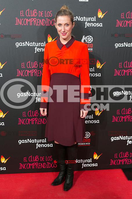 Cecilia Freire attend the Premiere of the movie &quot;El club de los incomprendidos&quot; at callao Cinema in Madrid, Spain. December 1, 2014. (ALTERPHOTOS/Carlos Dafonte) /NortePhoto<br /> /NortePhoto