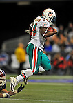 7 December 2008: Miami Dolphins' running back Ricky Williams in action during the first regular season NFL game ever played in Canada. The Dolphins defeated the Buffalo Bills 16-3 at the Rogers Centre in Toronto, Ontario. ..Mandatory Photo Credit: Ed Wolfstein Photo