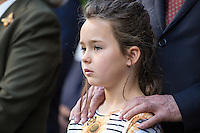 NEW YORK CITY, UNITED STATES SEPTEMBER 16, 2016: Peter Thomson's older granddaughter during the Peace Bell Ceremony to commemorate the International Day of Peace September at the United Nations in New York. Photo by VIEWpress/Maite H. Mateo